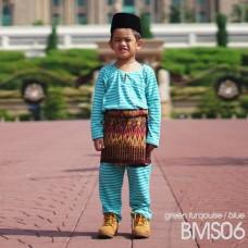 Baju Melayu Kain Tshirt (Teluk Belanga) Stripe - BMS06
