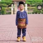 Baju Melayu Kain Tshirt (Teluk Belanga) Stripe - BMS10