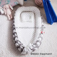 Babynest  with Free Pillow - BN002 Elephant