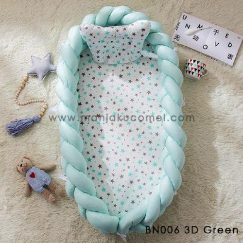 Babynest 3D Bionic Removable with Free Pillow - BN006 3D Green