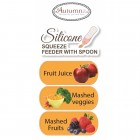 Autumnz - Silicone Squeeze Feeder With Spoon *Stand Neck 120ml* (Blue)