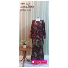 Kurung Moden Batik Bali Dewasa - BB002