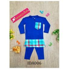 Baju Melayu Made by Cotton Tshirt-IDA006 (blue)