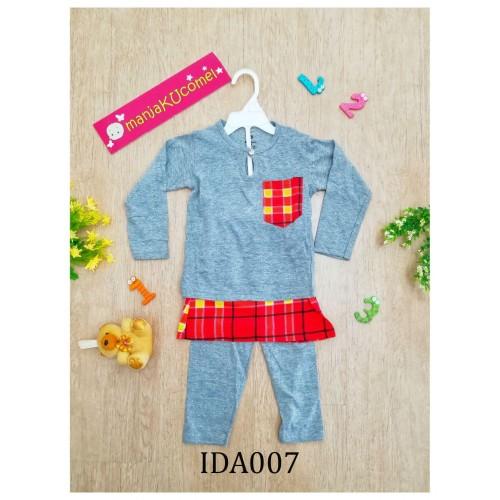 Baju Melayu Made by Cotton Tshirt-IDA007 (grey)
