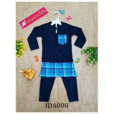 Baju Melayu Made by Cotton Tshirt-IDA008 (dark blue)
