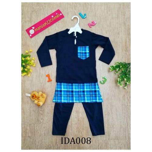 Baju Melayu Made by Cotton Tshirt-IDA008 (dark blue)