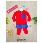 Baju Melayu Made by Cotton Tshirt-IDA009 (red)
