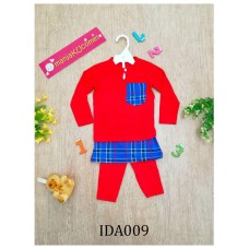 Baju Melayu Made by Cotton Tshirt-IDA009 (red)