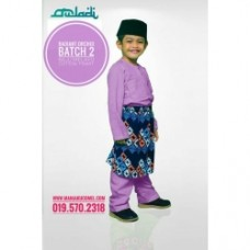 BM30 - Baju Melayu Kain Tshirt (Radiant Orchid)