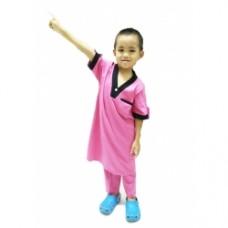 Baju Melayu Kurta (Cotton Tshirt) - 16 Fuchsia Rose