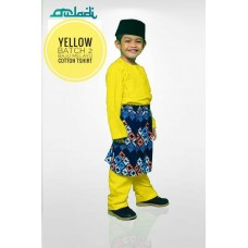 BM37 - Baju Melayu Kain Tshirt (Yellow)