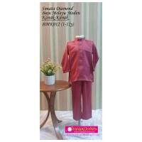 Baju Melayu Kanak-Kanak (Sonata Diamond) - BMK012 DUSTY PINK