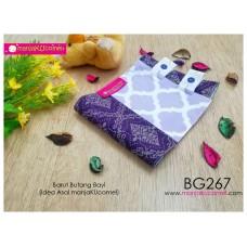 BG267-manjaKUcomel Barut Butang Bayi Bercorak