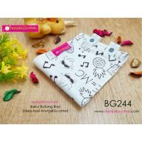 BG244-manjaKUcomel Barut Butang Bayi Bercorak