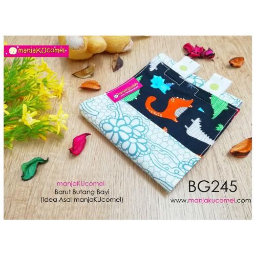 BG245-manjaKUcomel Barut Butang Bayi Bercorak