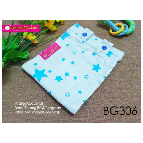 BG306-manjaKUcomel Barut Butang Bayi Bercorak