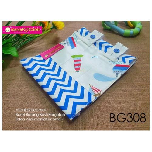 BG308-manjaKUcomel Barut Butang Bayi Bercorak
