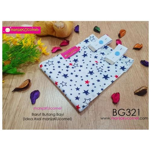BG321-manjaKUcomel Barut Butang Bayi Bercorak