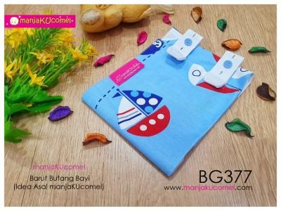 BG377-manjaKUcomel Barut Butang Bayi Bercorak