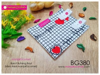 BG380-manjaKUcomel Barut Butang Bayi Bercorak