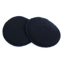 Autumnz- Basic Lacy Washable Breastpads (Black Lace) - 6 pcs