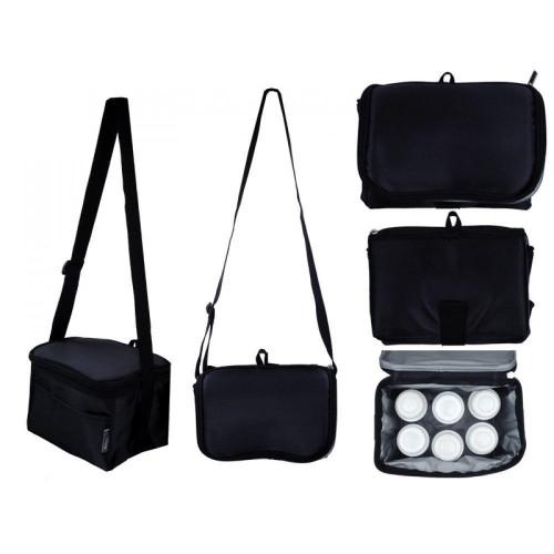 Autumnz - Fun Foldaway Cooler Bag (Black Checks)