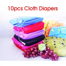 10PCS Cloth Diapers
