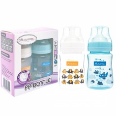 Autumnz - PP Wide Neck Feeding Bottle 6oz/180ml (Twin Pack) *Ellie Elephants / Fly With Me*