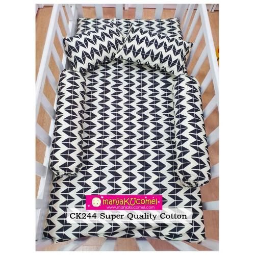 Sarung Set Tilam Katil Bayi - CK244 (Super Quality Cotton)