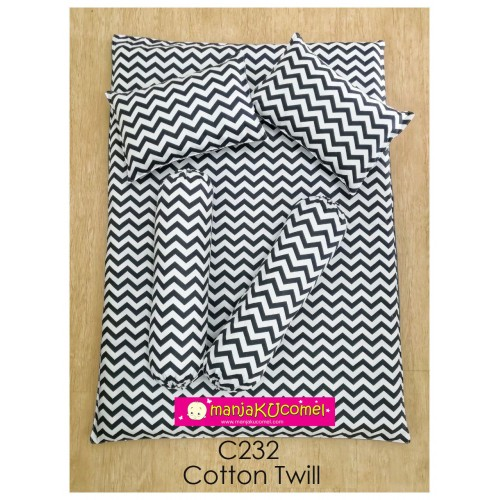 MANJAKUCOMEL Sarung Set Tilam Bayi - C232 (Super Quality Cotton/ Cotton Twill)