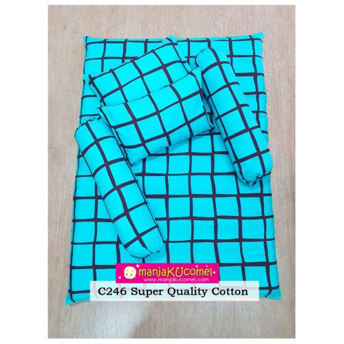 MANJAKUCOMEL Sarung Set Tilam Bayi - C246 (Super Quality Cotton/English Cotton)