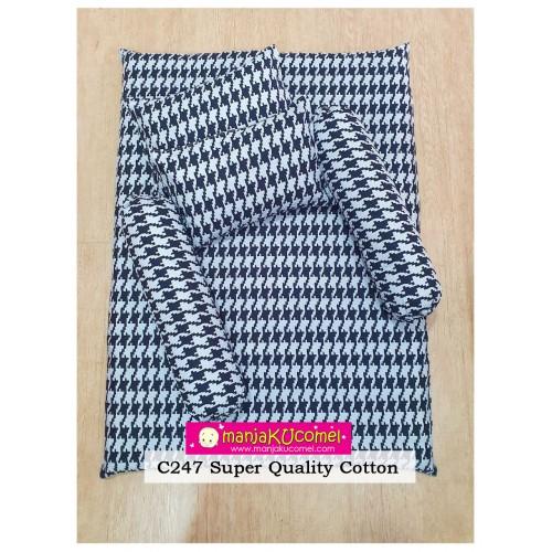 MANJAKUCOMEL Sarung Set Tilam Bayi - C247 (Super Quality Cotton/English Cotton)