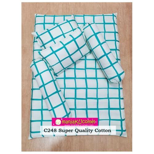 MANJAKUCOMEL Sarung Set Tilam Bayi - C248 (Super Quality Cotton/English Cotton)