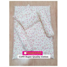 MANJAKUCOMEL Sarung Set Tilam Bayi - C249 (Super Quality Cotton/English Cotton)