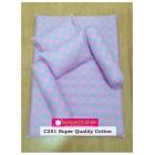 MANJAKUCOMEL Sarung Set Tilam Bayi - C251 (Super Quality Cotton/English Cotton)