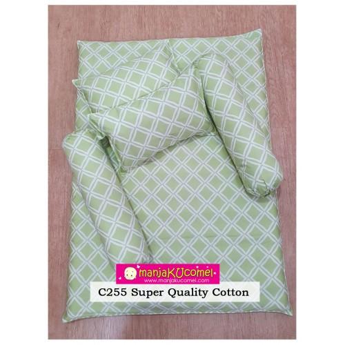 MANJAKUCOMEL Sarung Set Tilam Bayi - C255 (Super Quality Cotton/English Cotton)