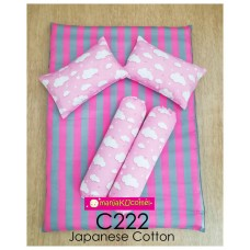 MANJAKUCOMEL Sarung Set Tilam Bayi - C222 (Super Quality Cotton/English Cotton)
