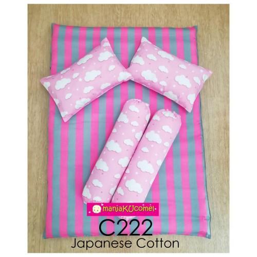 MANJAKUCOMEL Sarung Set Tilam Bayi - C222 (Super Quality Cotton/English Cotton)