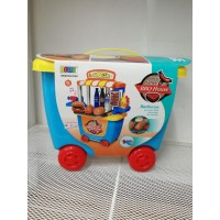 BBQ Kids Simulation Pretend Playrole Playset With Roller