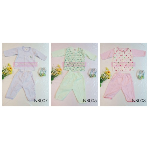 BUY 3 Set Newborn Pyjamas (Long Sleeve + Long Pant)