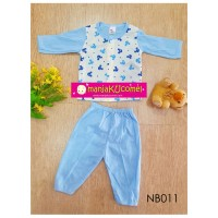 Newborn Pyjama (Long Sleeve + Long Pant) - NB011