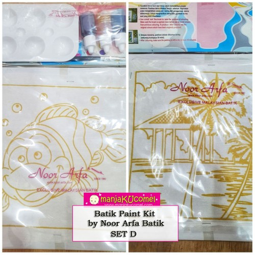 Batik Paint Kit by Noor Arfa Batik - Set D