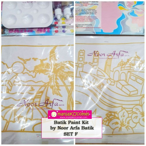 Batik Paint Kit by Noor Arfa Batik - Set F