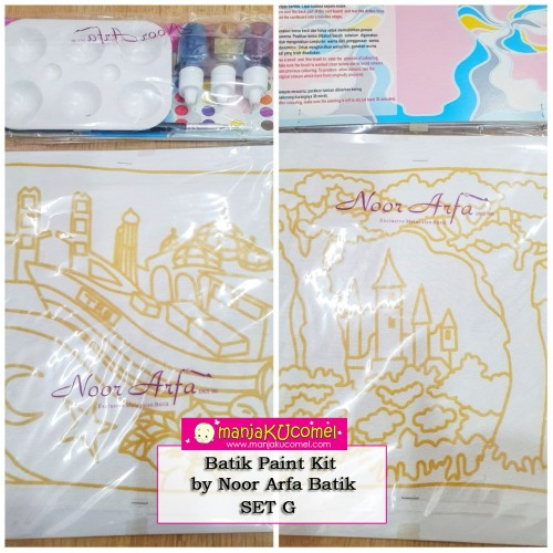 Batik Paint Kit by Noor Arfa Batik - Set G