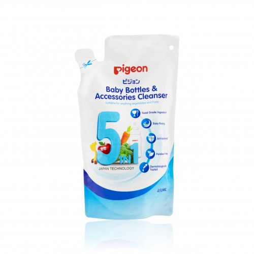 Pigeon Baby Bottles & Accessories Cleanser, Refill 450ml