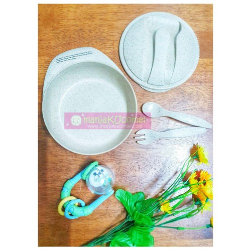 Kids Lunch Bowl with Fork & Spoon EARTH HUSKS