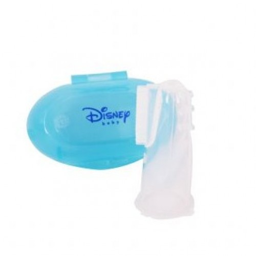 Baby Silicone Toothbrush Mickey & Minnie - Blue